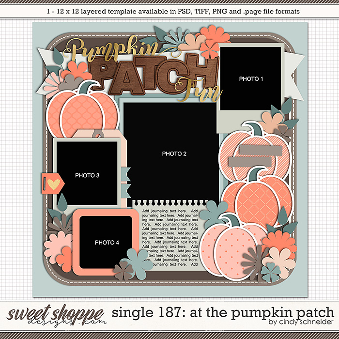Cindy's Layered Templates - Single 187: At the Pumpkin Patch by Cindy Schneider