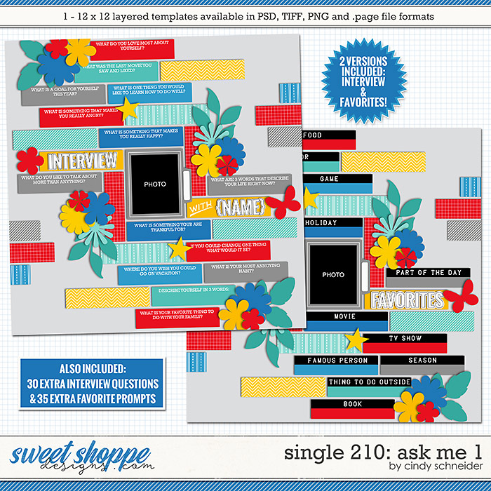 Cindy's Layered Templates - Single 210: Ask Me 1 by Cindy Schneider