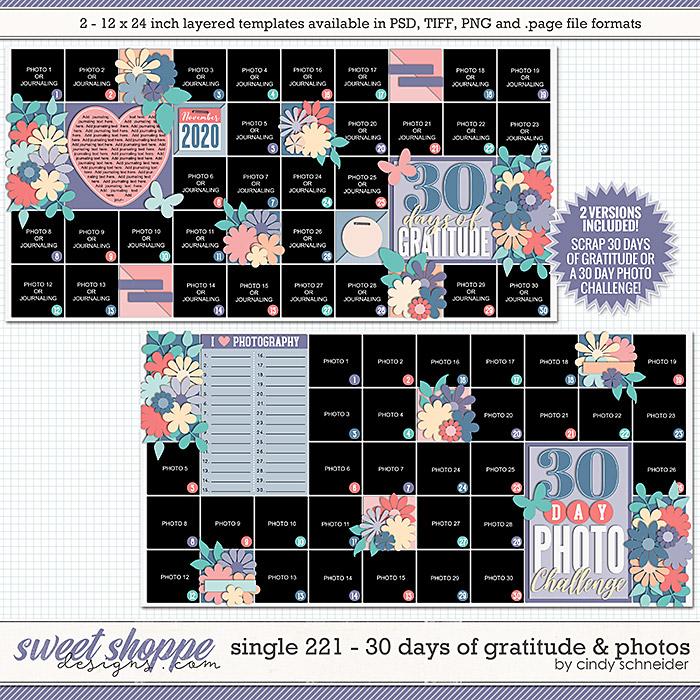 Cindy's Layered Templates - Single 221: 30 days of Gratitude & Photos by Cindy Schneider