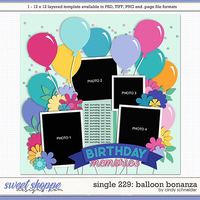 Cindy's Layered Templates - Single 229: Balloon Bonanza by Cindy Schneider