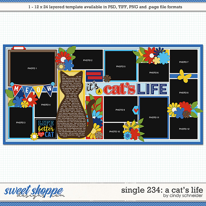 Cindy's Layered Templates - Single 234: It's a Cat's Life by Cindy Schneider