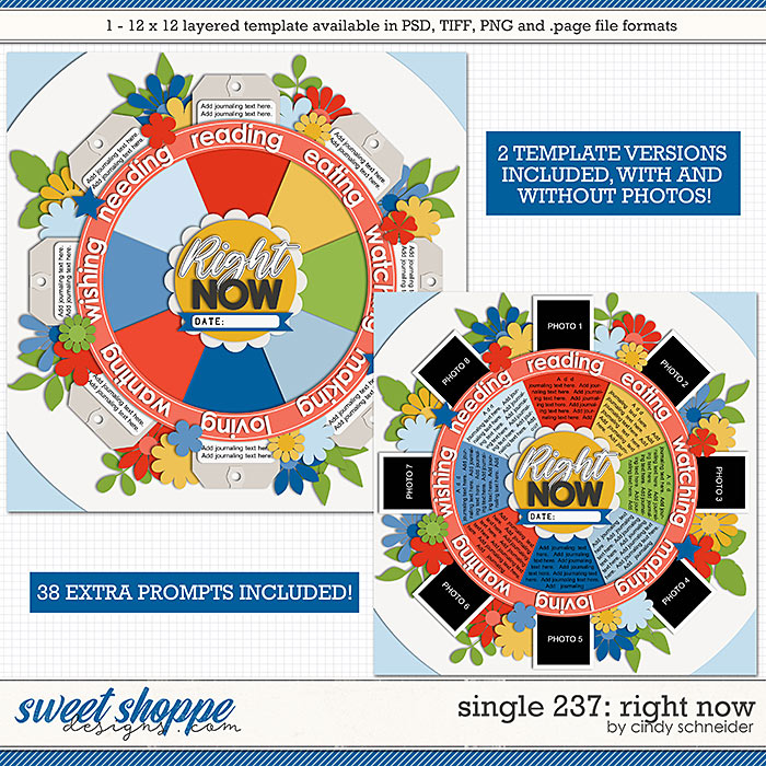 Cindy's Layered Templates - Single 237: Right Now by Cindy Schneider