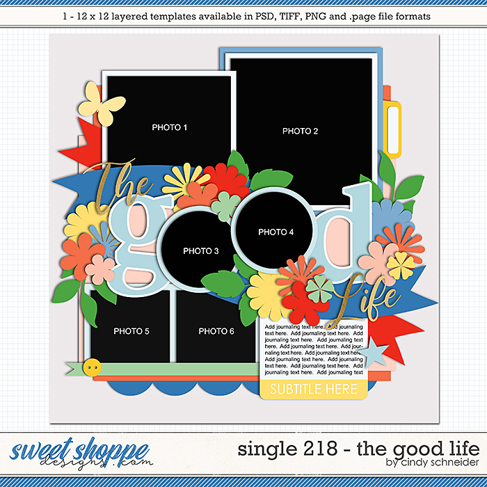 Cindy's Layered Templates - Single 218: The Good Life by Cindy Schneider