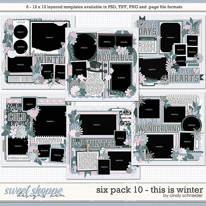 Cindy's Layered Templates - Six Pack 10: This is Winter by Cindy Schneider