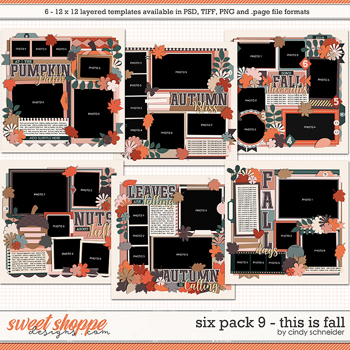Cindy's Layered Templates - Six Pack 9: This is Fall by Cindy Schneider