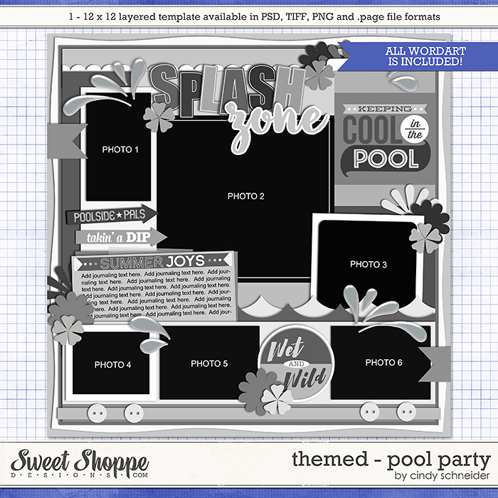 Cindy's Layered Templates - Themed: Pool Party by Cindy Schneider