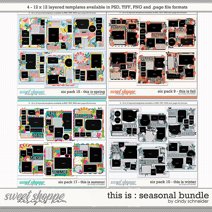 Cindy's Layered Templates - This is Seasonal Bundle by Cindy Schneider