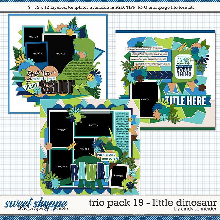 Cindy's Layered Templates - Trio Pack 19: Little Dinosaur by Cindy Schneider
