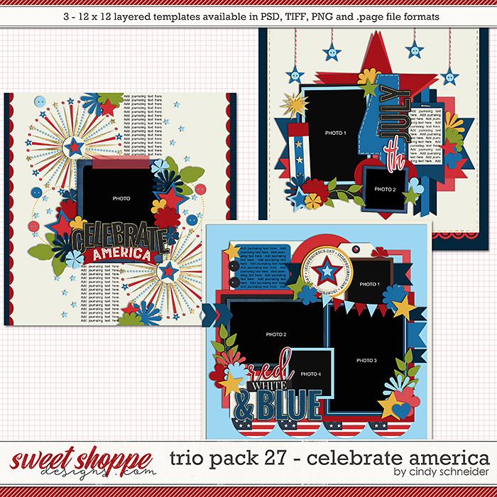 Cindy's Layered Templates - Trio Pack 27: Celebrate America by Cindy Schneider