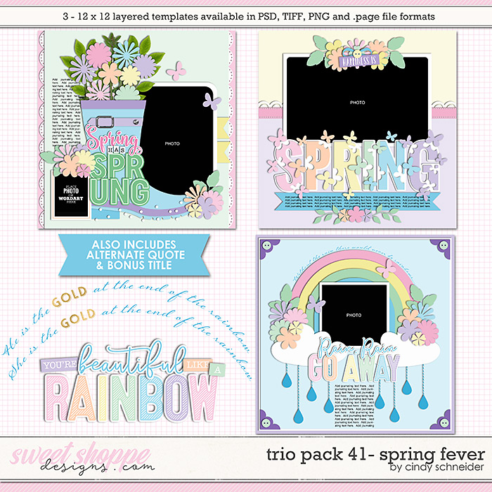 Cindy's Layered Templates - Trio Pack 41: Spring Fever by Cindy Schneider