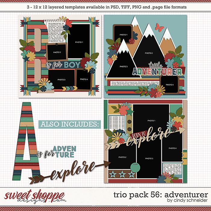Cindy's Layered Templates - Trio Pack 56: Adventurer by Cindy Schneider