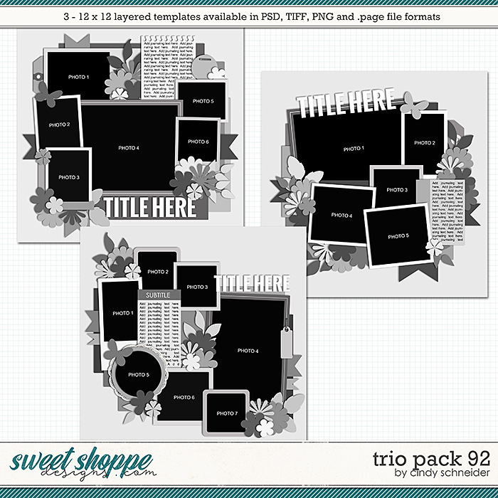 Cindy's Layered Templates - Trio Pack 92 by Cindy Schneider