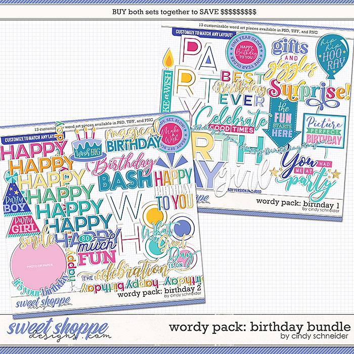 Cindy's Wordy Pack: Birthday Bundle by Cindy Schneider