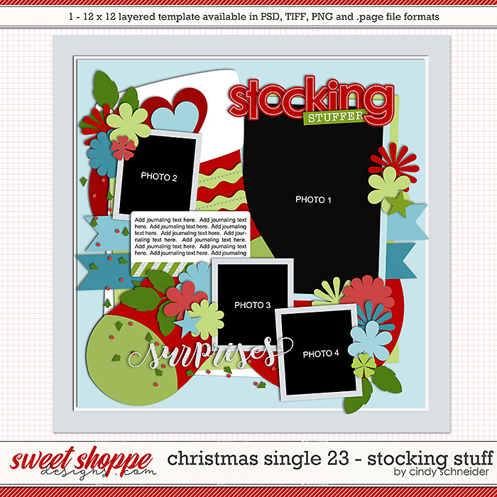 Cindy's Layered Templates - Christmas Single 23: Stocking Stuff by Cindy Schneider