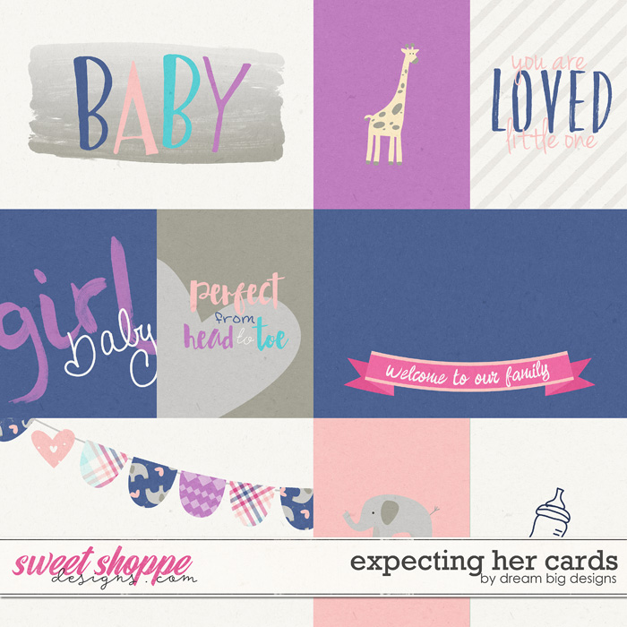 Expecting Her Cards by Dream Big Designs