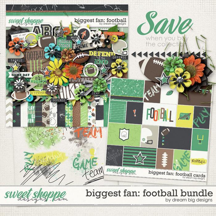 Biggest Fan: Football Bundle by Dream Big Designs