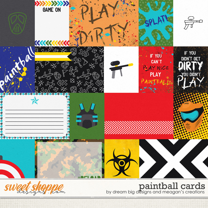 Paintball : Cards by Dream Big Designs & Meagan's Creations