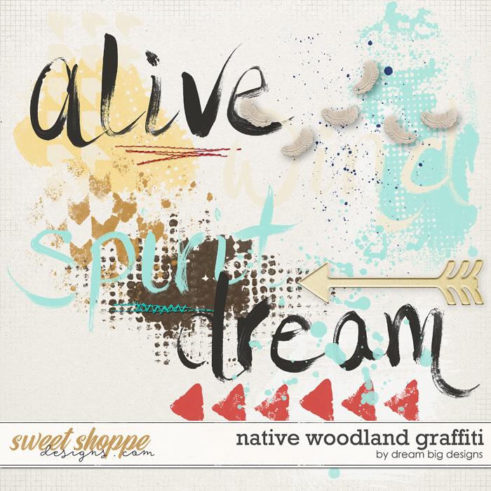 Native Woodland Graffiti by Dream Big Designs