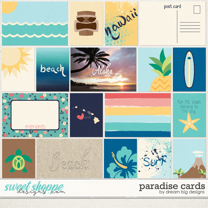 Paradise Cards by Dream Big Designs
