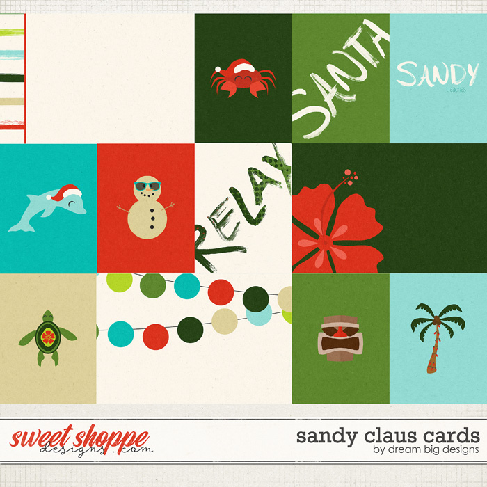 Sandy Claus Cards by Dream Big Designs