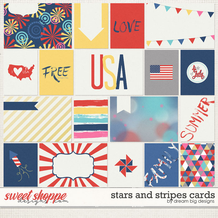 Stars and Stripes Cards by Dream Big Designs