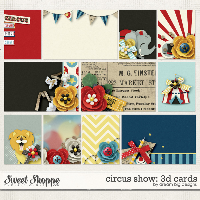 Circus Show: 3d Cards by Dream Big Designs