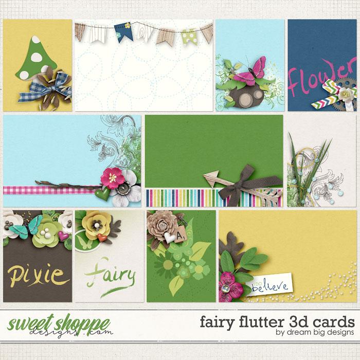 Fairy Flutter 3D Cards by Dream Big Designs