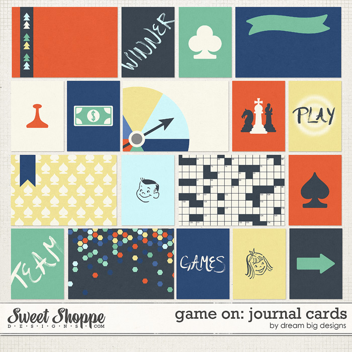 Game On: Journal Cards by Dream Big Designs