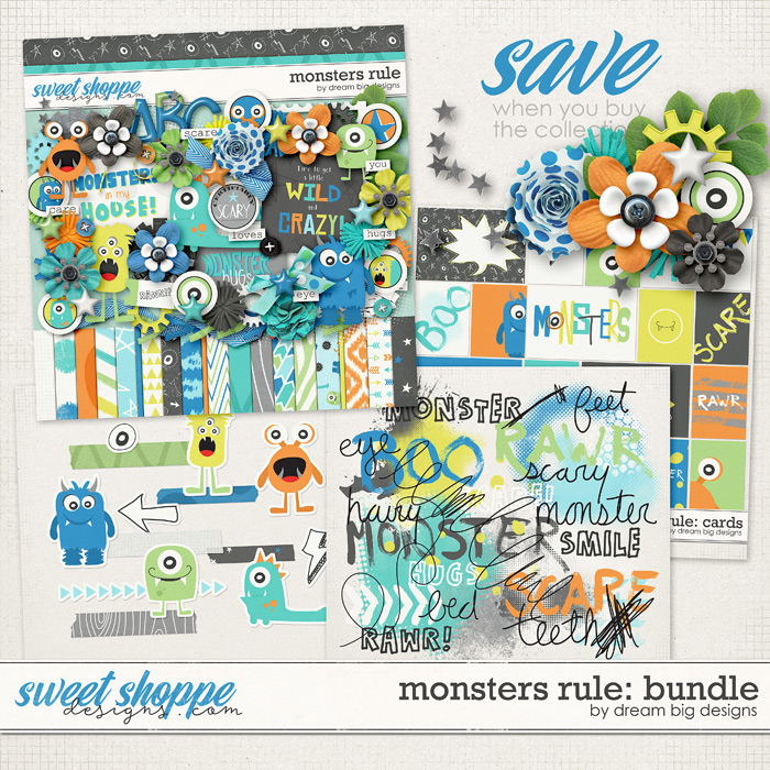 Monsters Rule: Bundle by Dream Big Designs