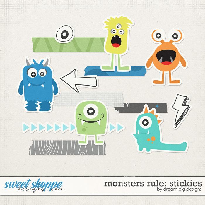 Monsters Rule: Stickies by Dream Big Designs