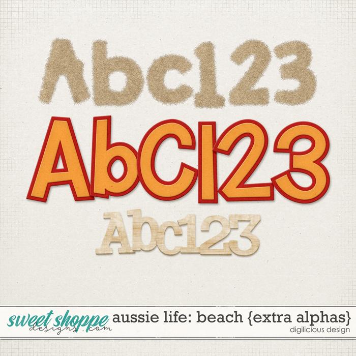 Aussie Life: Beach {Extra Alphas} by Digilicious Design