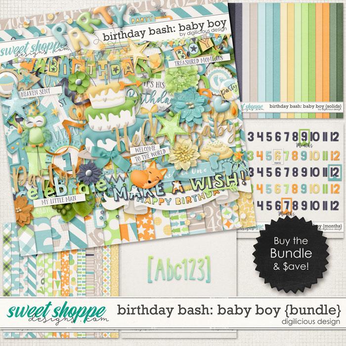 Birthday Bash: Baby Boy {Bundle} by Digilicious Design