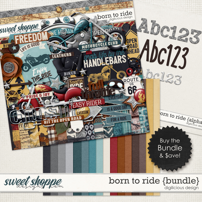 Born To Ride {Bundle} by Digilicious Design