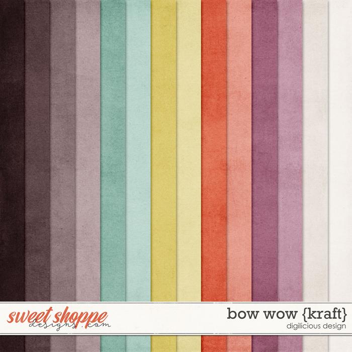 Bow Wow {Kraft} by Digilicious Design