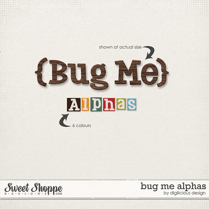 Bug Me Alphas by Digilicious Design