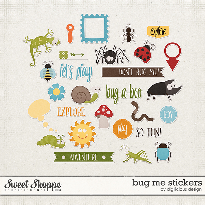Bug Me Stickers by Digilicious Design