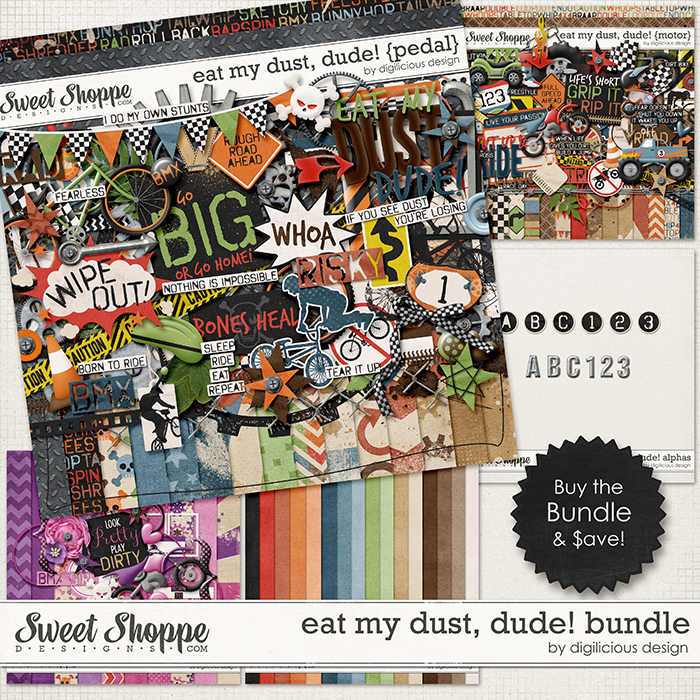 Eat My Dust, Dude! Bundle by Digilicious Design