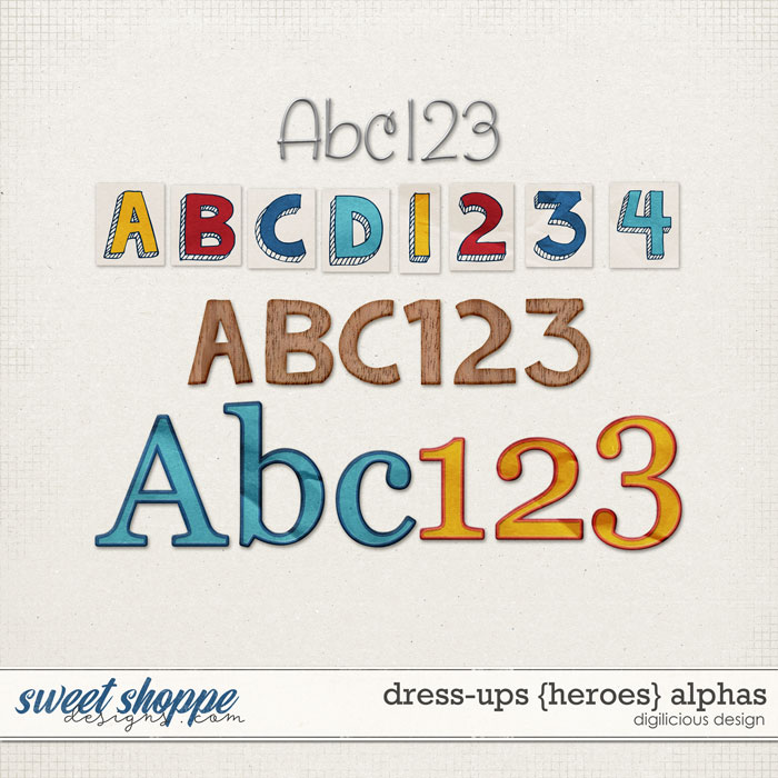Dress-ups {Heroes} Alphas by Digilicious Design