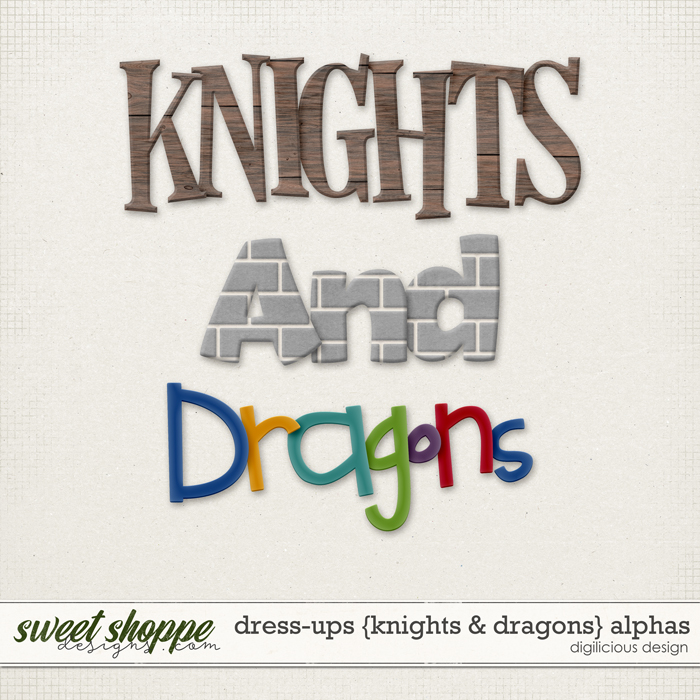 Dress-ups {Knights & Dragons} Alphas by Digilicious Design