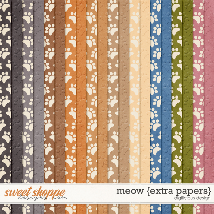 Meow {Extra Papers} by Digilicious Design