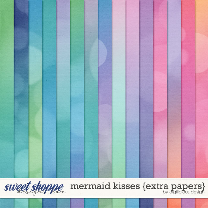 Mermaid Kisses {Extra Papers} by Digilicious Design