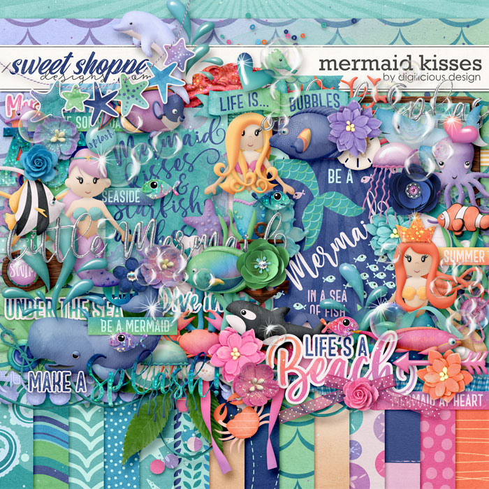 Mermaid Kisses {Kit} by Digilicious Design