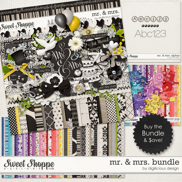 Mr. & Mrs. Bundle by Digilicious Design