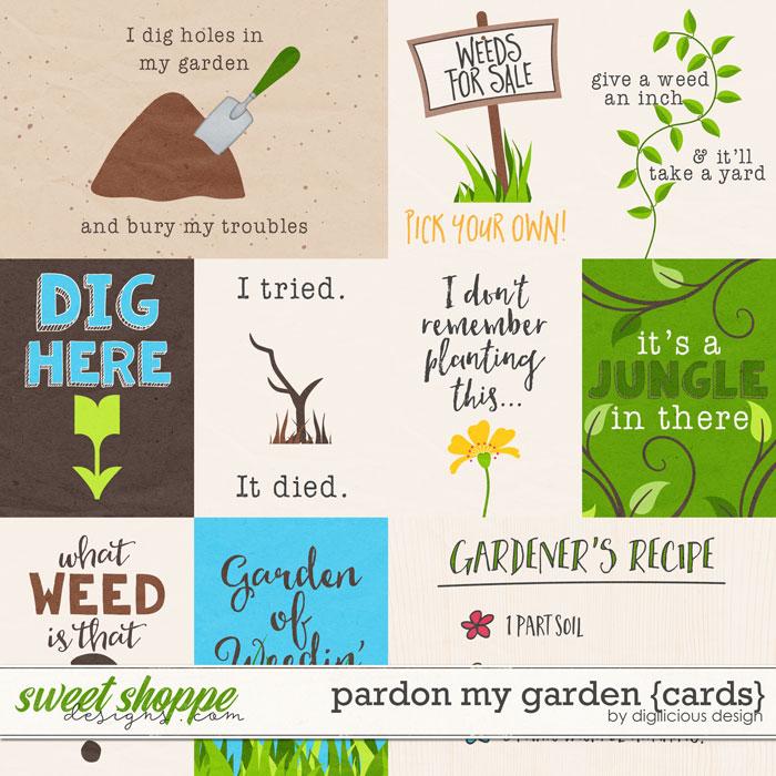 Pardon My Garden {Cards} by Digilicious Design