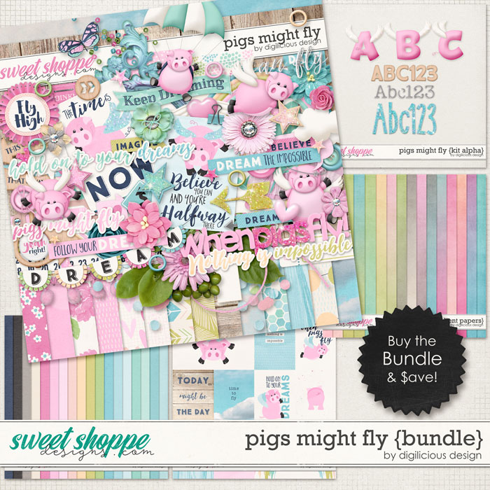 Pigs Might Fly {Bundle} by Digilicious Design