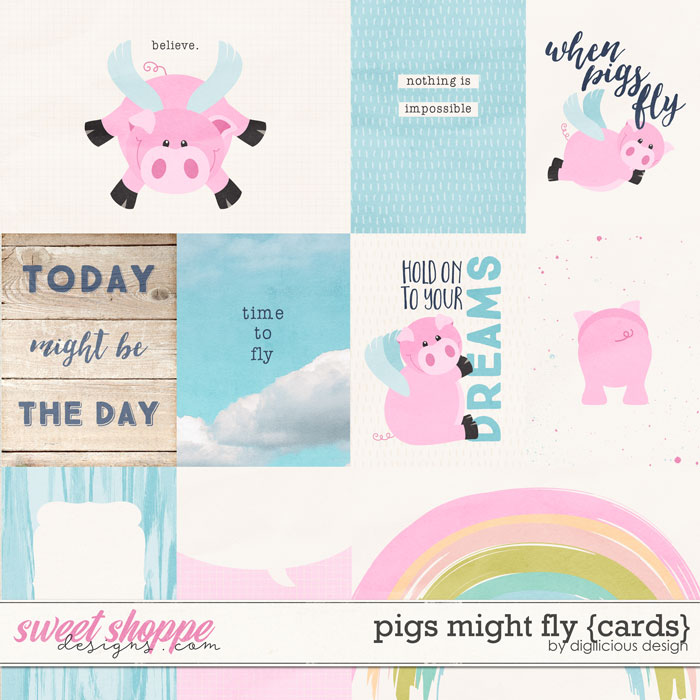 Pigs Might Fly {Cards} by Digilicious Design