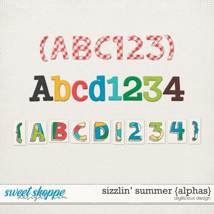 Sizzlin' Summer {Alphas} by Digilicious Design