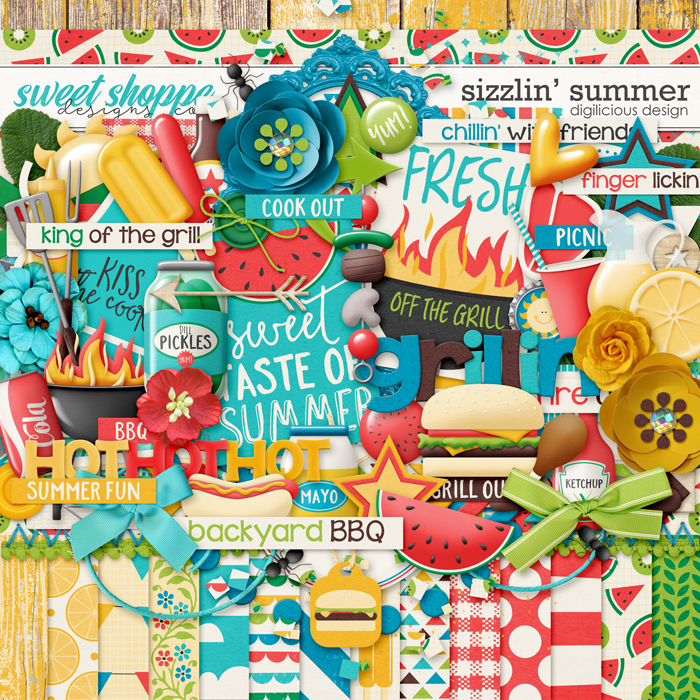 Sizzlin' Summer {Kit} by Digilicious Design