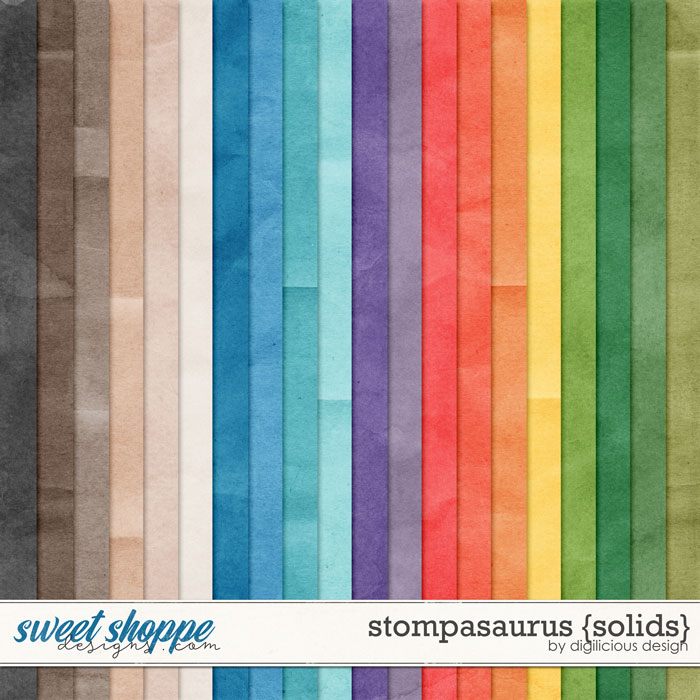 Stompasaurus {Solids} by Digilicious Design