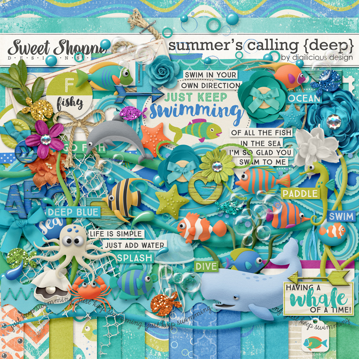 Summer's Calling {Deep} by Digilicious Design